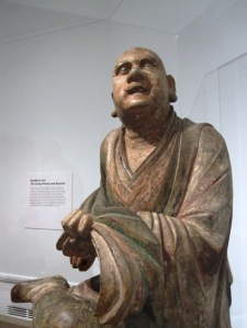 chinese statue monk at the moment of enlightenment