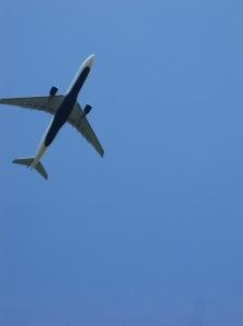 air plane blue sky